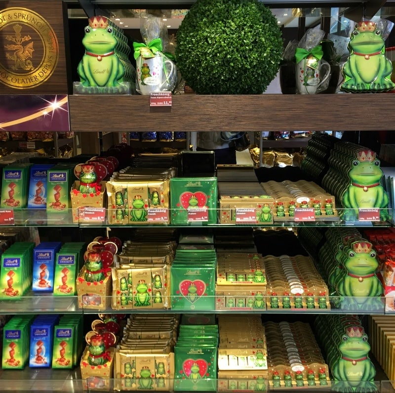 The Frog Prince chocolate treats at the Lindt Boutique in Old Heidelberg - Romance, Education and Debouchery in Heidelberg with Viking River Cruises