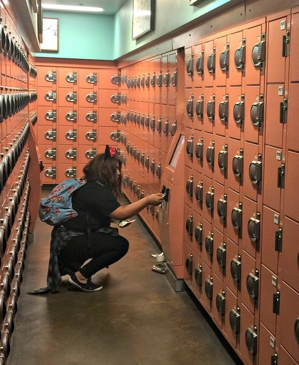 The charging station lockers fill up quickly at Disneyland and Disney California Adventure