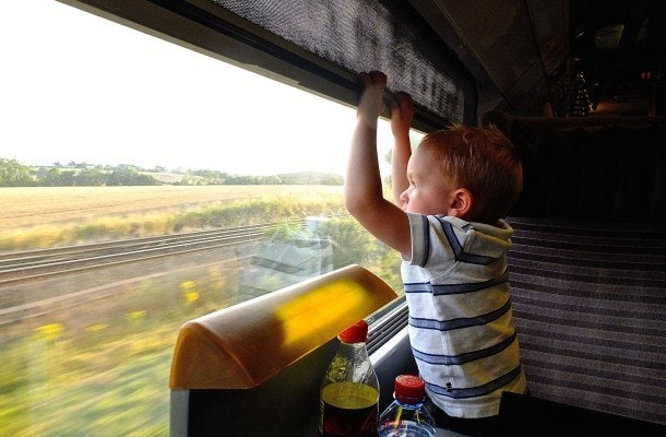 The views are mesmerizing when traveling Europe by train with kids