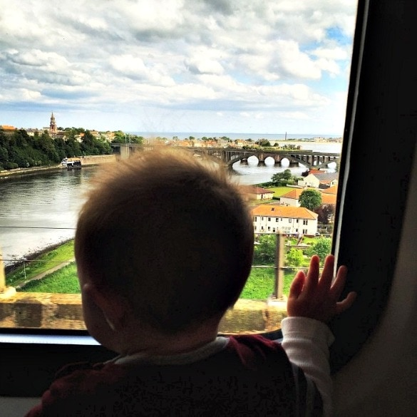 Breathtaking scenery abounds when traveling Europe by train with kids
