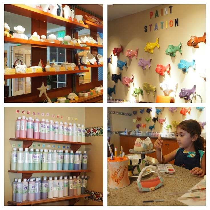 Top 20 Things to do at Atlantis Paradise Island Resort ~ Kids can paint their own pottery at Earth & Fire Pottery Studio.
