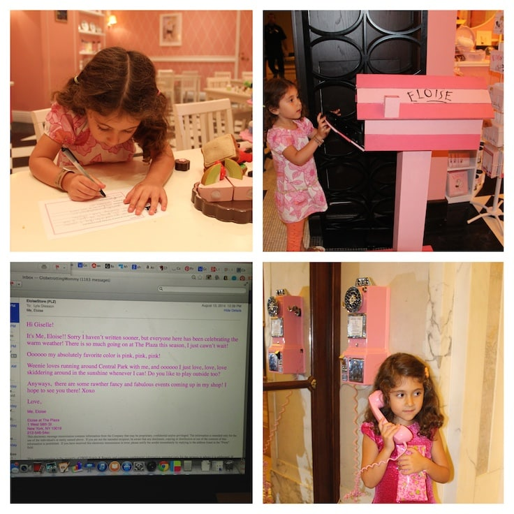 All Things Eloise at The Plaza Hotel ~ Kids can call and write to Eloise at The Plaza Hotel.