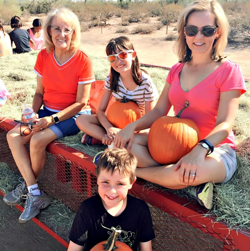 For me, fall fun means picking pumpkins on a warm, sunny day in Arizona with my mom and kids