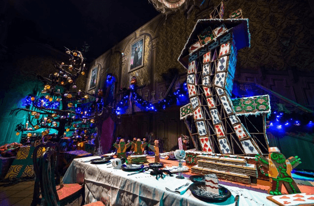 Haunted Mansion Holiday gingerbread house of cards