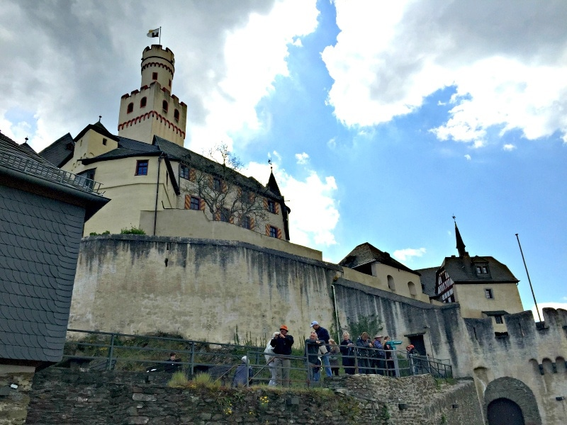 Marksburg Castle in Braubach, Germany