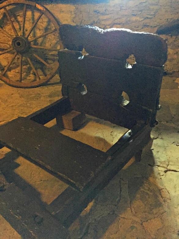 Medieval torture implements on display at Marksburg Castle