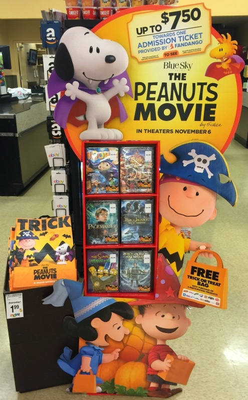 Look for the Peanuts Movie display in your local Alberton's Safeway store