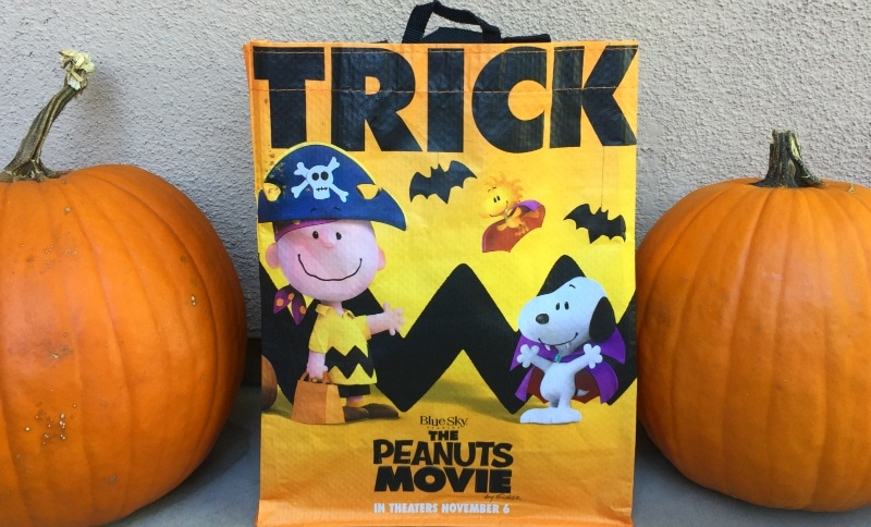 Albertsons Safeway stores are giving away free Peanuts Movie Trick Or Treat bags with the purchase of qualifying products