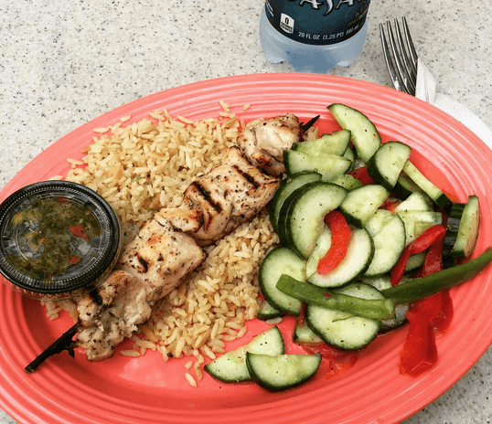 Travel Snack Hack: Seek out healthy foods while traveling, like this nutritious meal at Paradise Garden Grill at Disney California Adventure