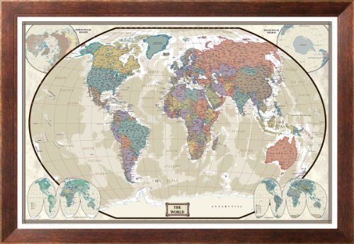 World map to track your travels ~ Gift Ideas for Travel Lovers
