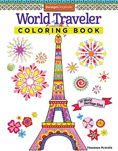 Grown-up travel coloring book ~ Gift Ideas for Travel Lovers