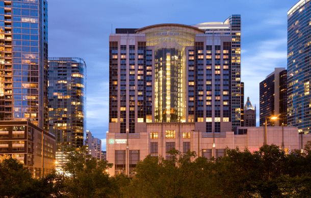 It's hard to beat the central location of Embassy Suites by Hilton Chicago Downtown Magnificent Mile near restaurants, sites and, of course, lots of shopping