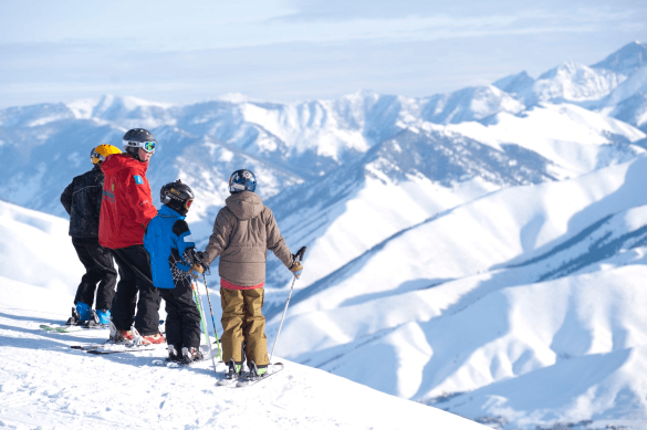 A family of skiers at Sun Valley Resort