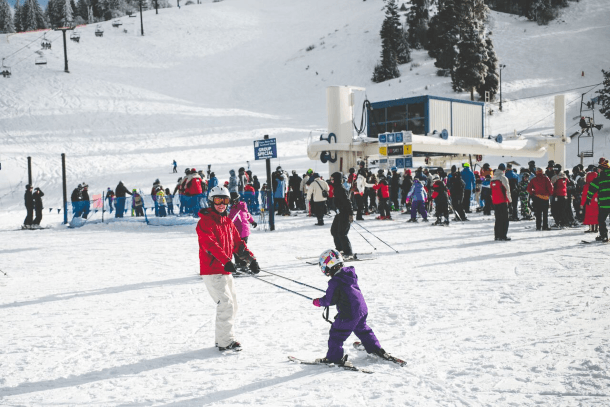 Learning to ski at Bogus Basin Resort