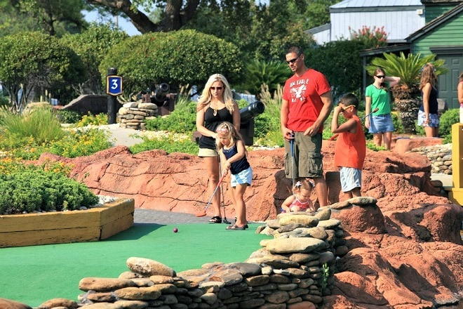 Mini-golf fun for all ages at one of Myrtle Beach's 50+ courses ~ 8 Myrtle Beach Family Activities and Attractions You'll Love