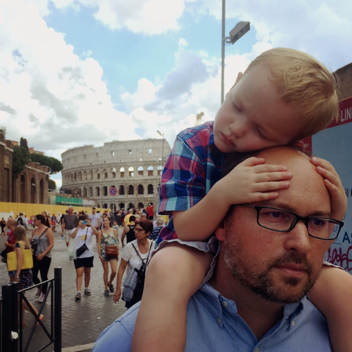 Naps are key to a successful multigeneration trip! ~ Multigenerational Vacation in Rome