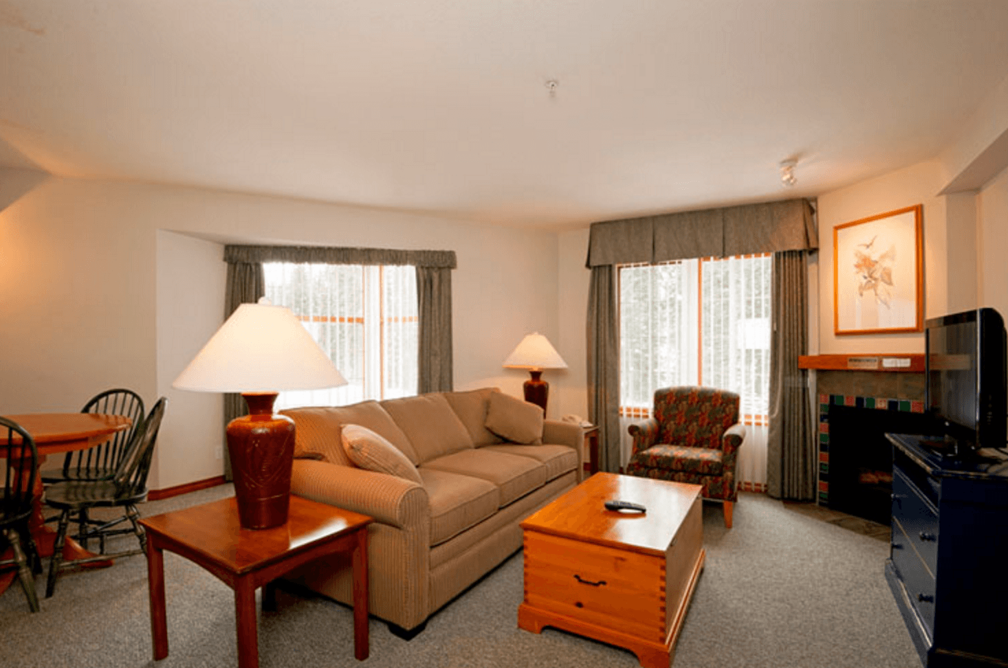 A suite at Hearthstone Lodge