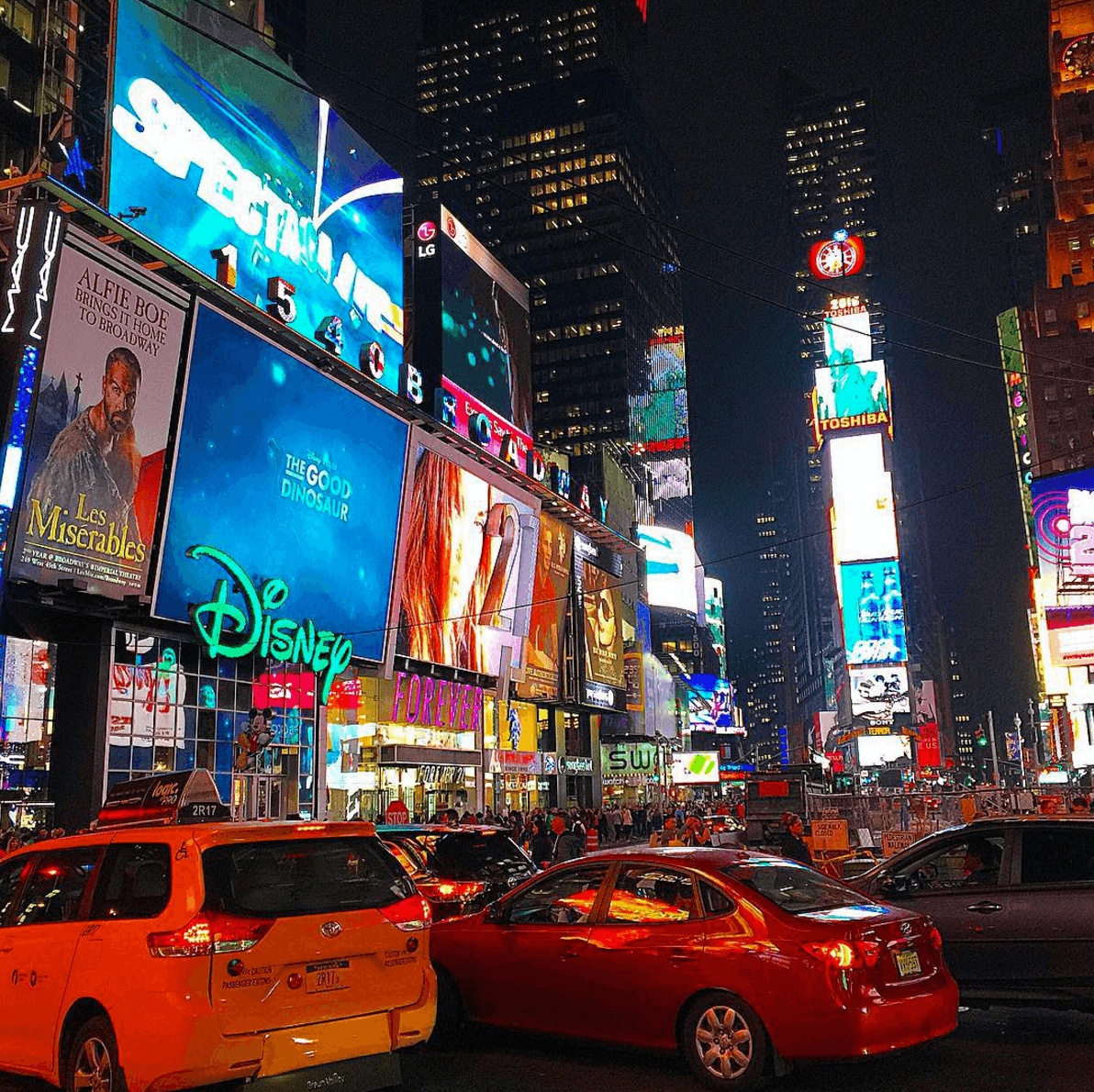 Times Square in New York City ~ New York City in One Day for First Timers