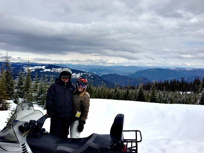 Snowmobiling for the first time was a total rush at Sun Peaks in British Columbia