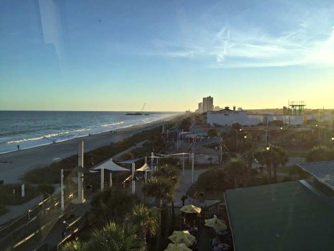 View of the Grand Strand from the Sky Wheel ~ 8 Myrtle Beach Family Activities and Attractions You'll Love