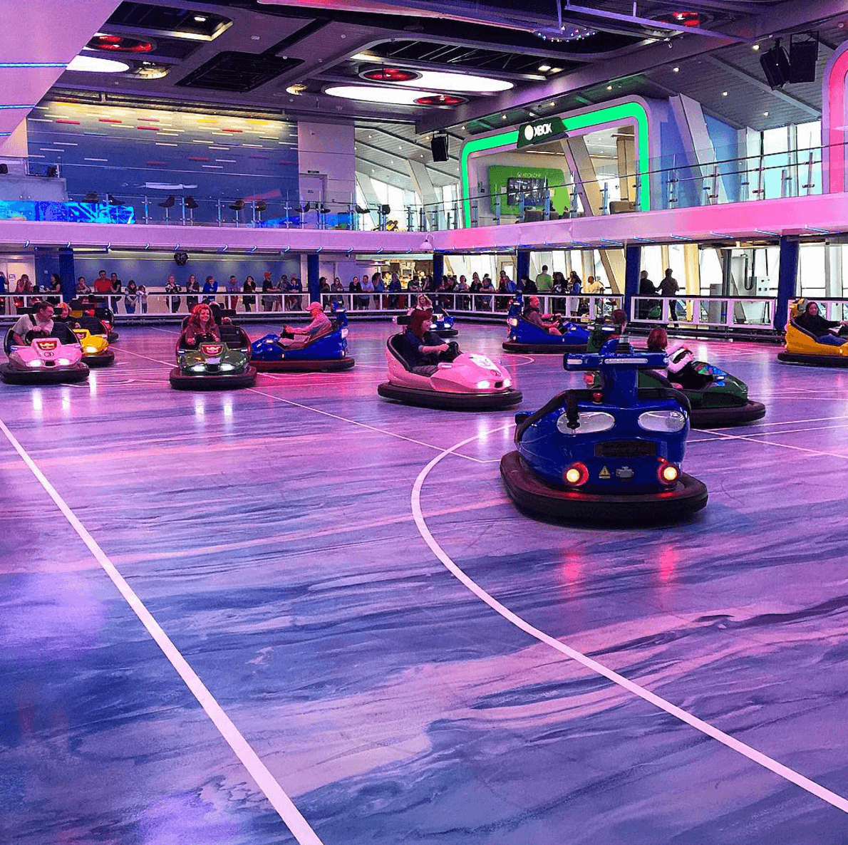Bumper cars at sea on Royal Caribbean Anthem of the Seas ~ 12 Essential Tips for Cruising with Kids