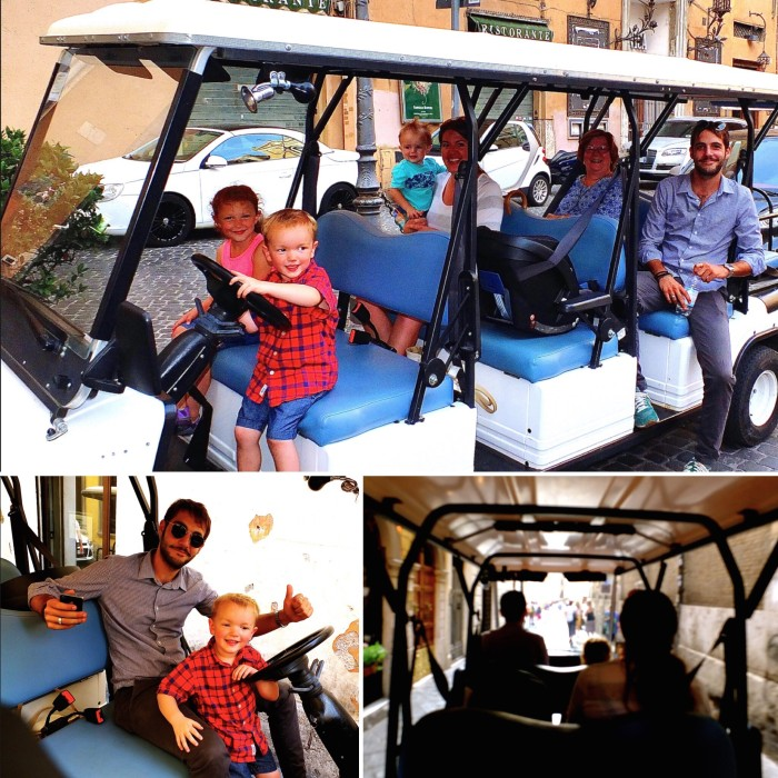 Golf cart tours are perfect for multigenerational travel ~ Multigenerational vacation in Rome