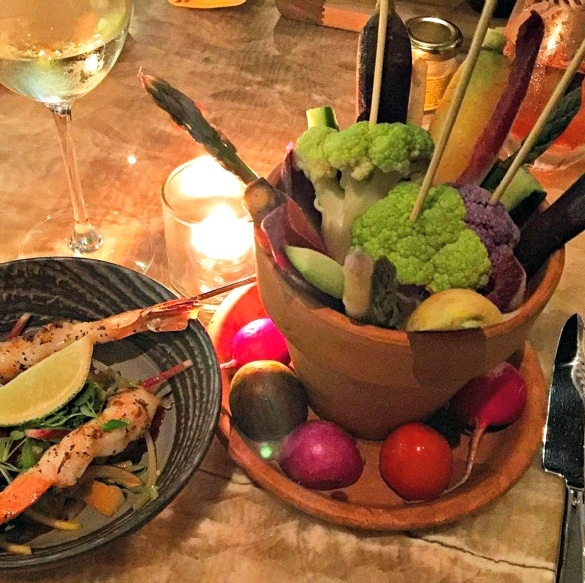Light bites, including a tempting display of crudités at Measure Lounge ~ New York City in One Day for First Timers