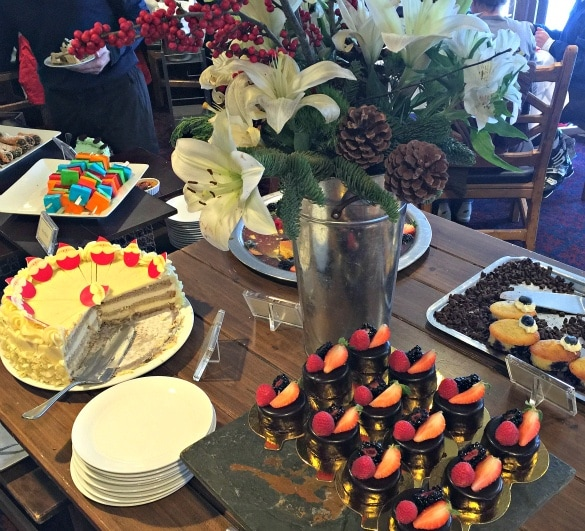 Just a sliver of the desserts available at the Glitretind Sunday Buffet at the Stein Eriksen Lodge in Deer Valley ~ Delicious Restaurants for Families in Park City