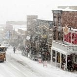 A snowstorm on Historic Main Street in Park City, Utah ~ Win a Park City Vacation