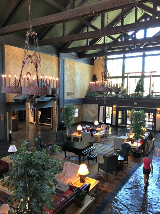 The impressive lobby of Tenaya Lodge feels as grand as it looks (Credit: C Laroye)