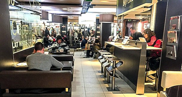 A swanky McDonald's in downtown Prague ~ Why Visit McDonald's Around the World with Kids