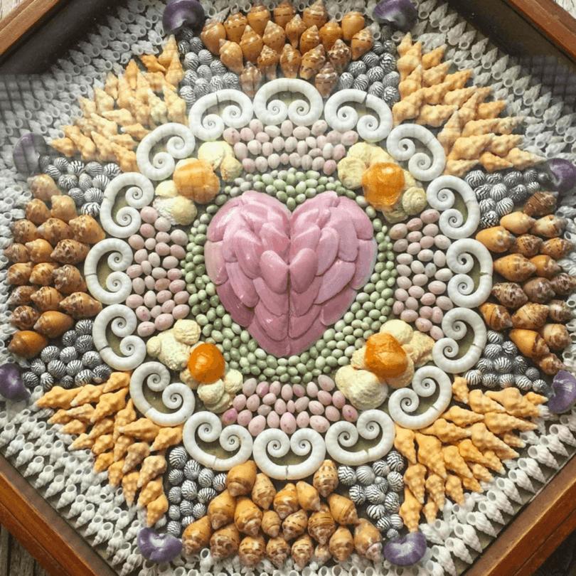 Beautiful shell art at Bailey-Matthews National Shell Museum in Sanibel, Florida ~ Things to Do on Captiva Island and Sanibel Island