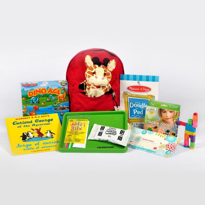 Pre-packed travel activity kit from Allpakt