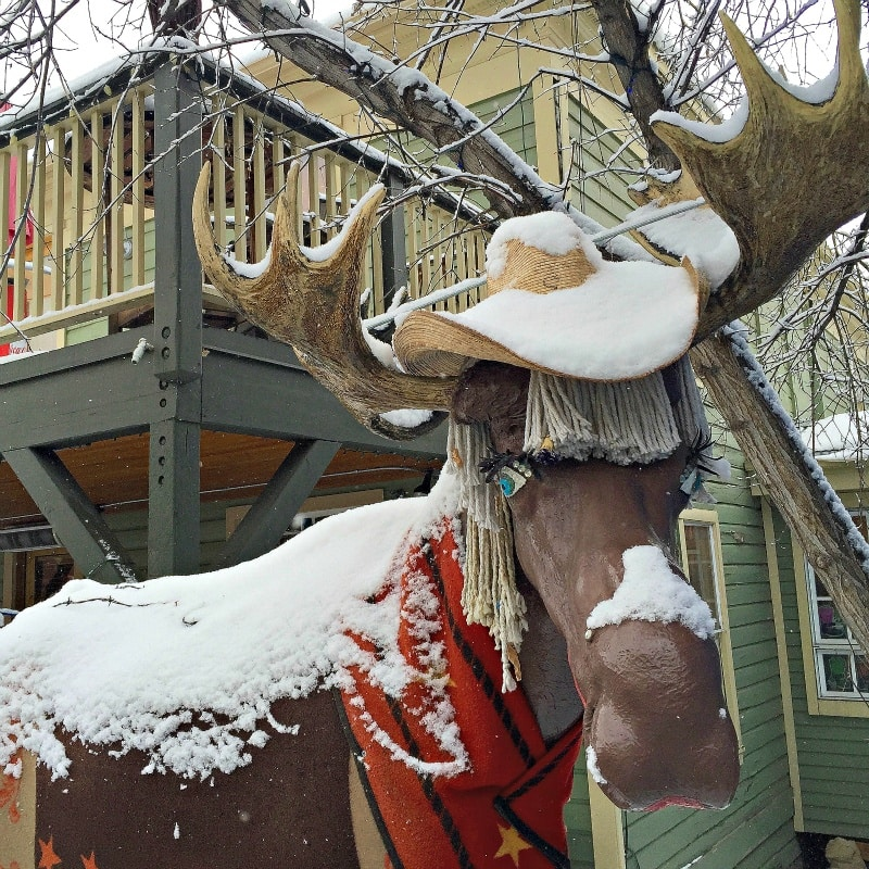 Loosey the Moose on Main Street ~ What to Do in Park City Beyond the Slopes