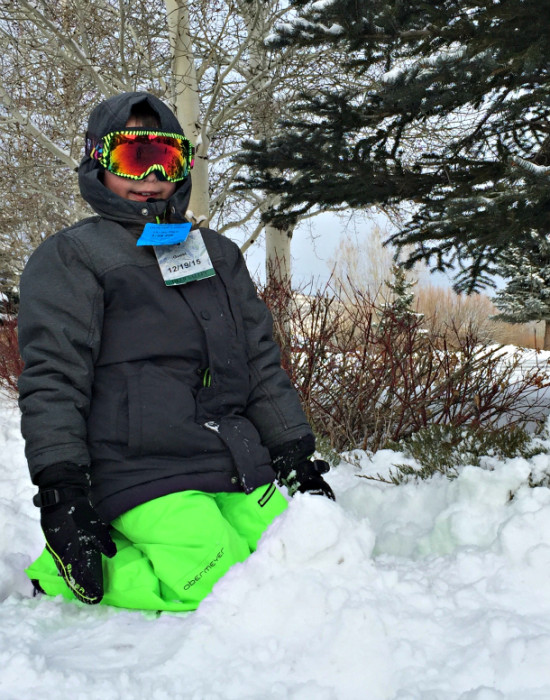 Playing in the snow in Park City, Utah ~ Win a Park City Vacation at the Next #KidsNTrips Twitter Party