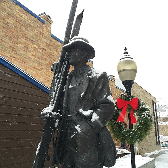 "Statue of Emmett ""Bud"" Wright in Park City, Utah ~ Win a Park City Vacation at the Next #KidsNTrips Twitter Party"