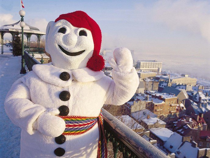 Bonhomme, the Quebec Winter Carnival mascot ~ Quebec City Winter Fun for Families