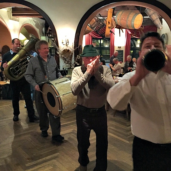 The live band at Rudesheimer Schloss restaurant in Rudesheim am Rhein