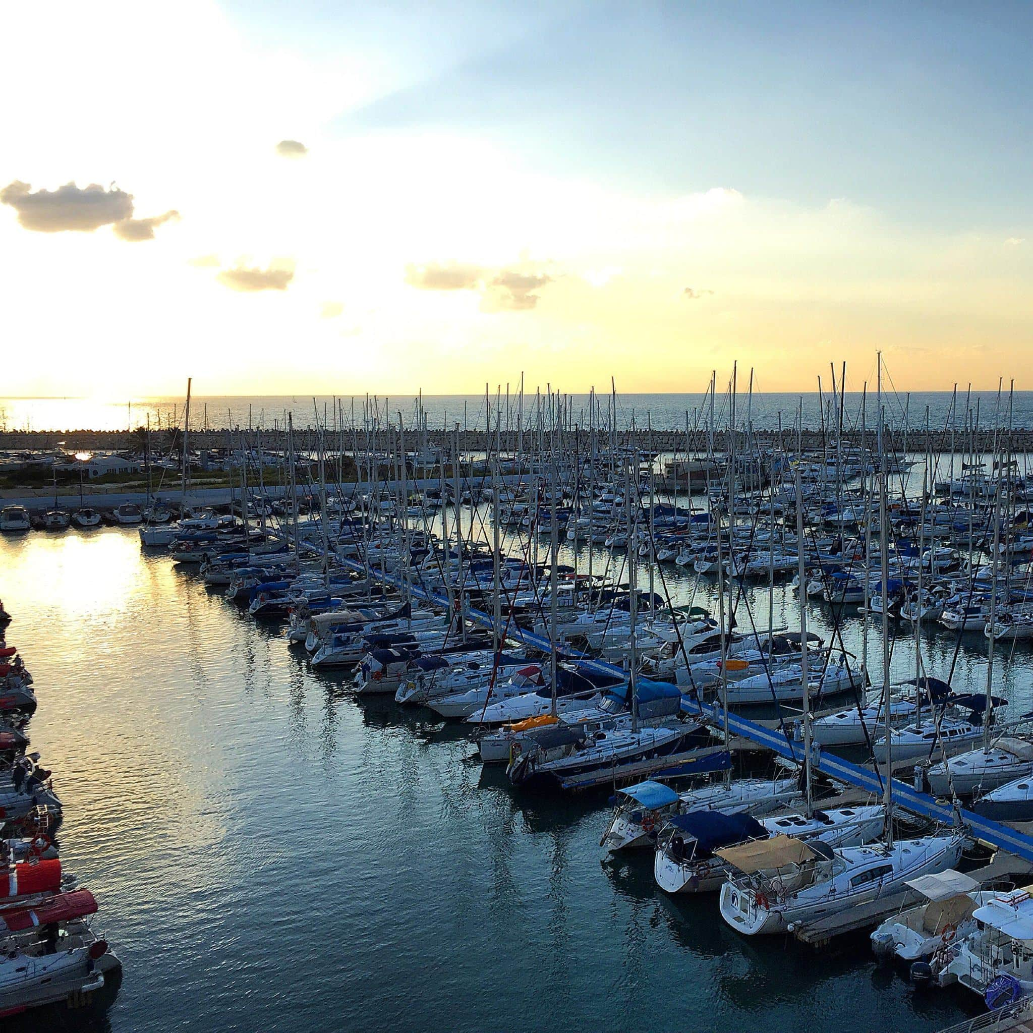 View of the Mediterranean Sea from the Ritz-Carlton Herzilya