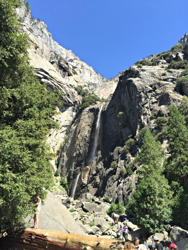 A short hike leads to the beautiful Lower Yosemite Falls (Credit: C. Laroye)