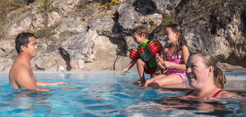 Radium Hot Springs in Kootenay National Park, Canada ~ 10 Incredible Hot Springs for Families