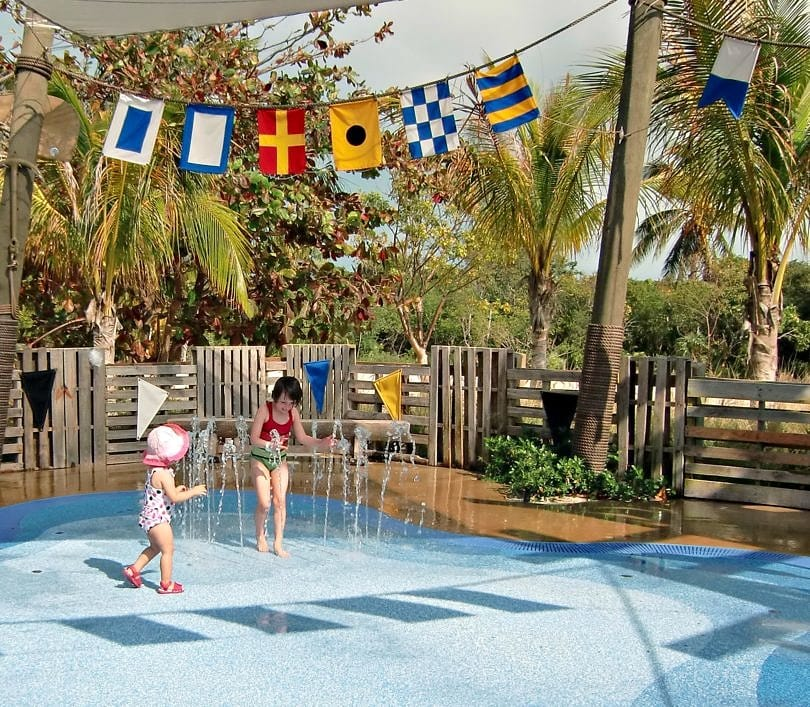 Fountain play area for kids on Castaway Cay