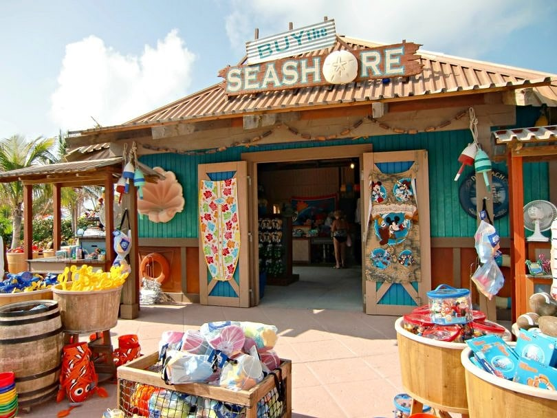 Be sure to buy Castaway Cay souvenirs on shore - they aren't available on the Disney Cruise Line ships.