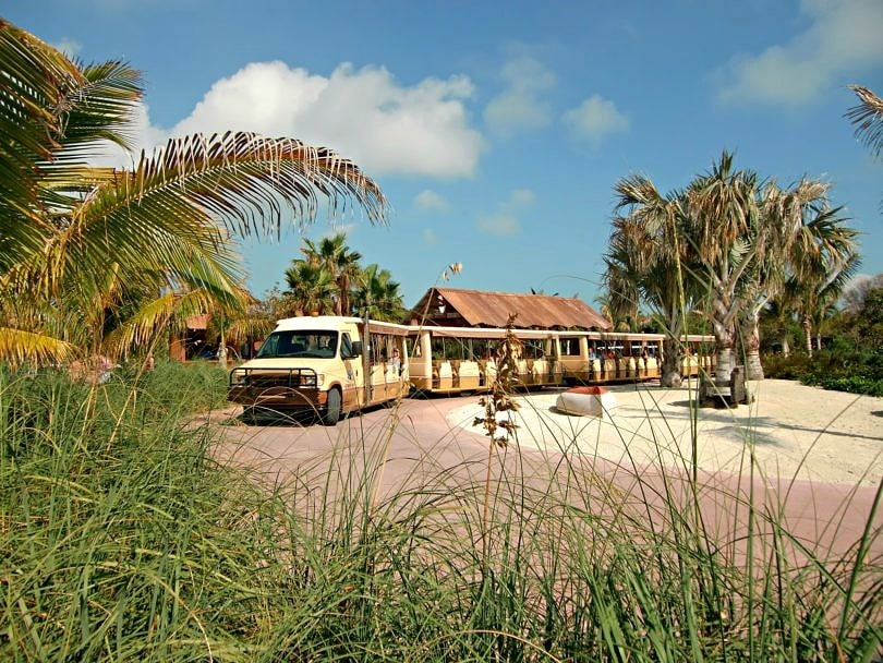 Do take the tram on Disney's Castaway Cay!