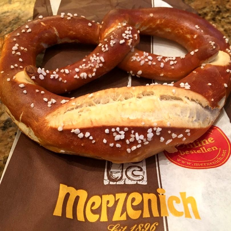 You must eat a pretzel while in Germany, of course!