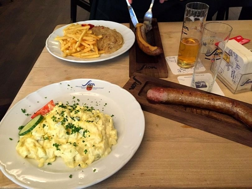 Hearty German fare in Cologne , Germany
