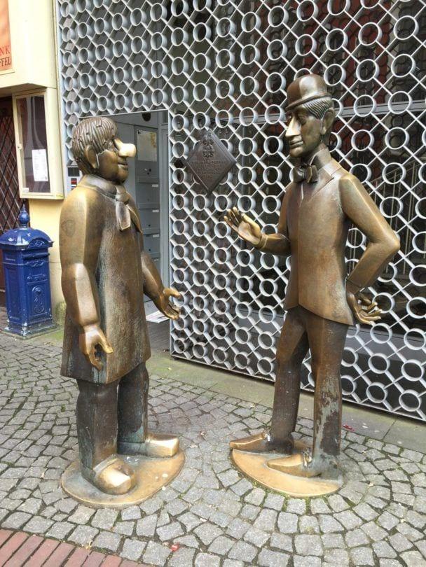 Tünnes and Schäl bronze statues