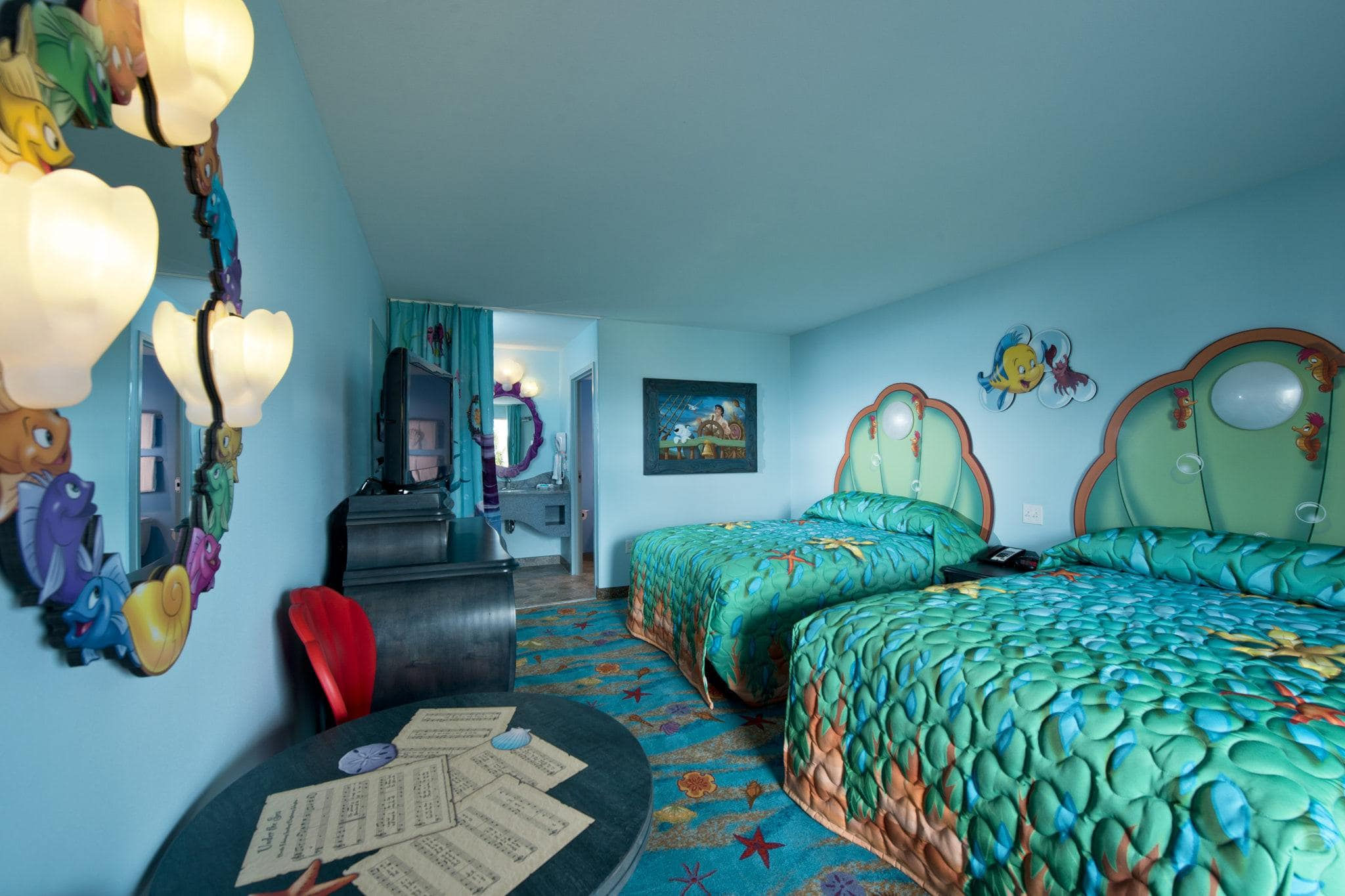 "Sleep ""under the sea"" in the Little Mermaid Wing at Disney's Art of Animation Resort ~ How to Save Money on Disney Resort hotels"