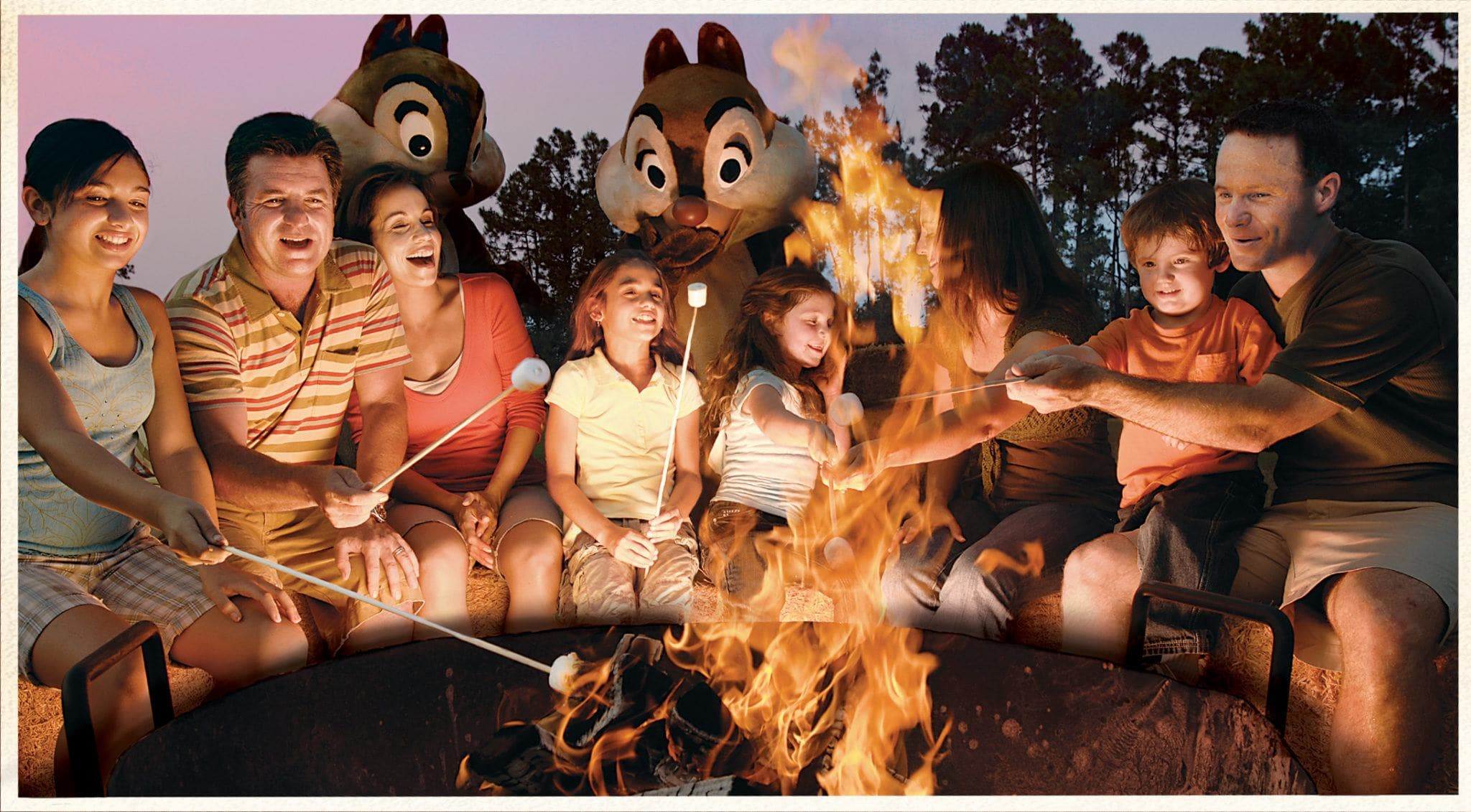 Who wouldn't want to sing campfire songs with Chip and Dale at Disney's Fort Wilderness Resort?