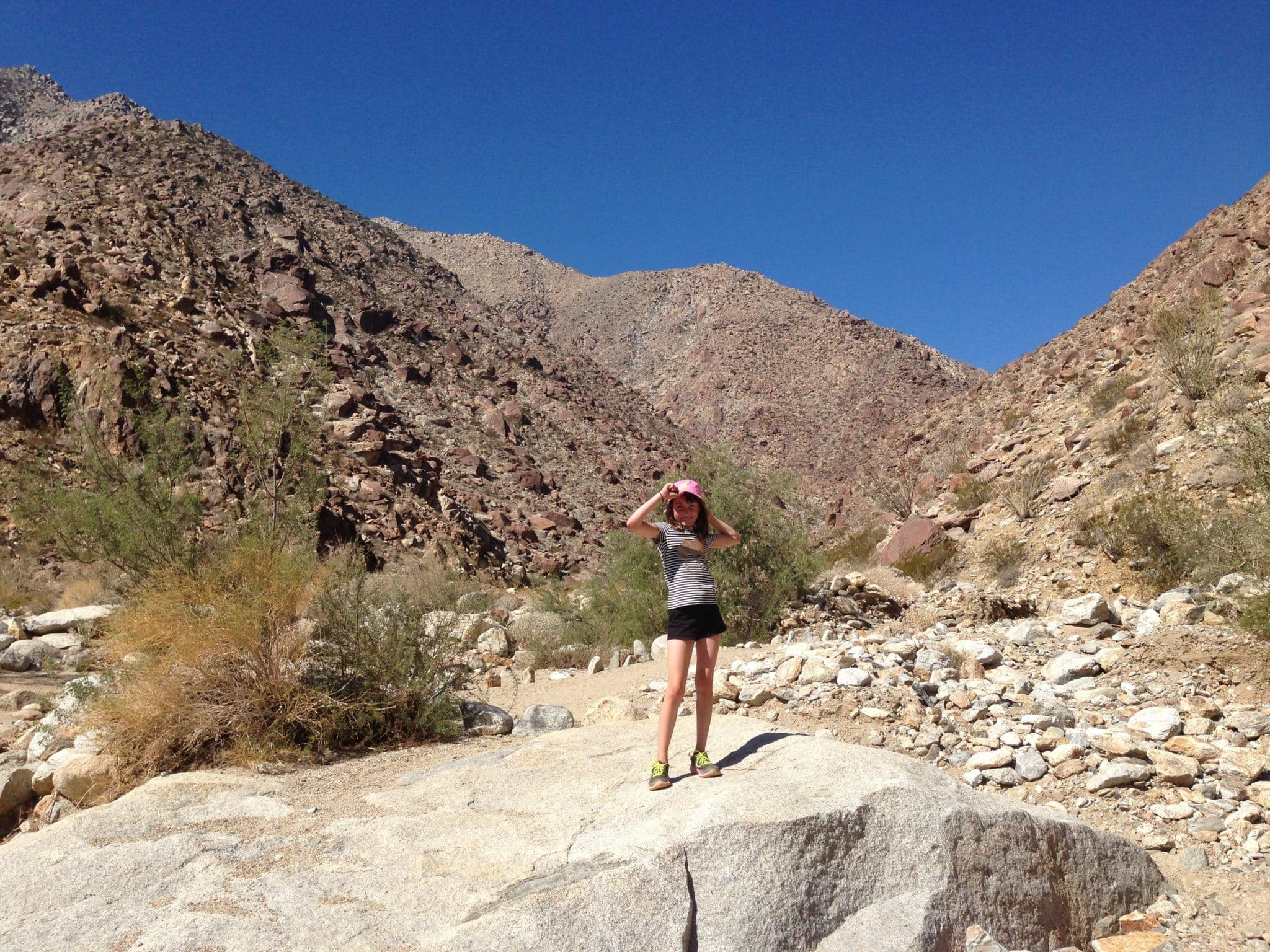Hiking Anza Borrego Desert State Park in California ~ How to Connect Kids with Nature on Family Vacation